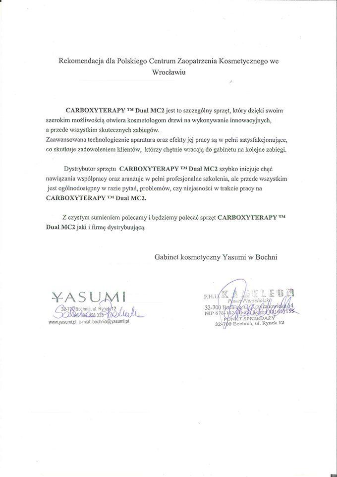 Referencje - Yasumi Bochnia
