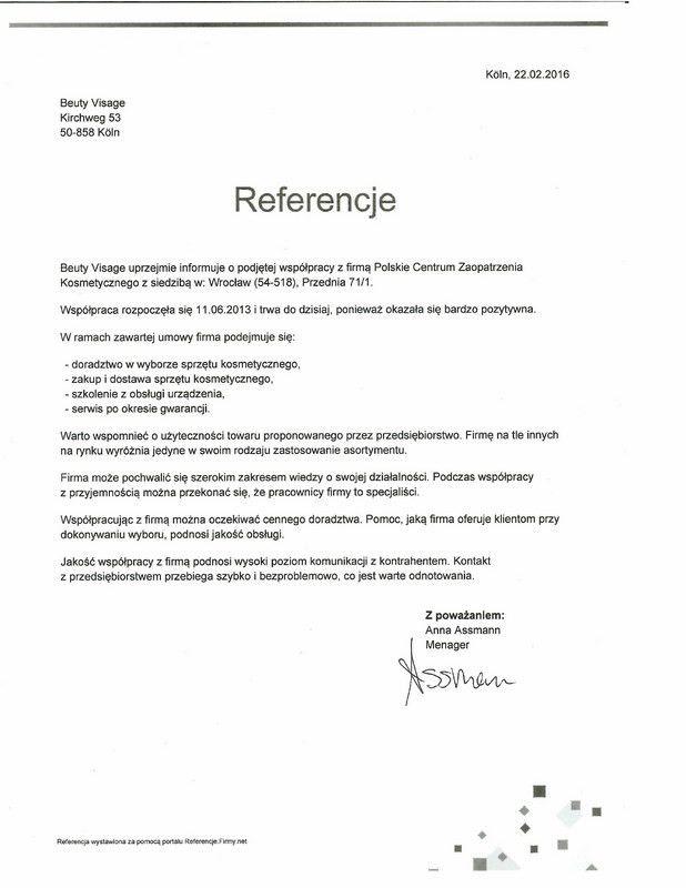 Referencje - Anna Assmann