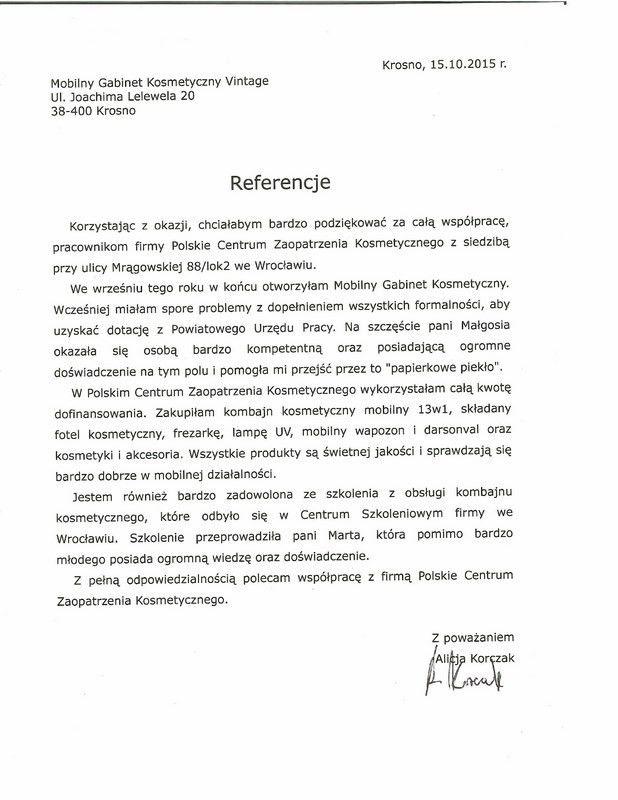 Referencje - Alicja Korczak