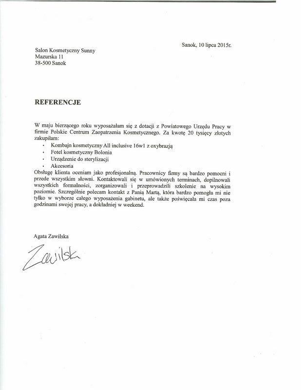 Referencje - Agata Zawilska