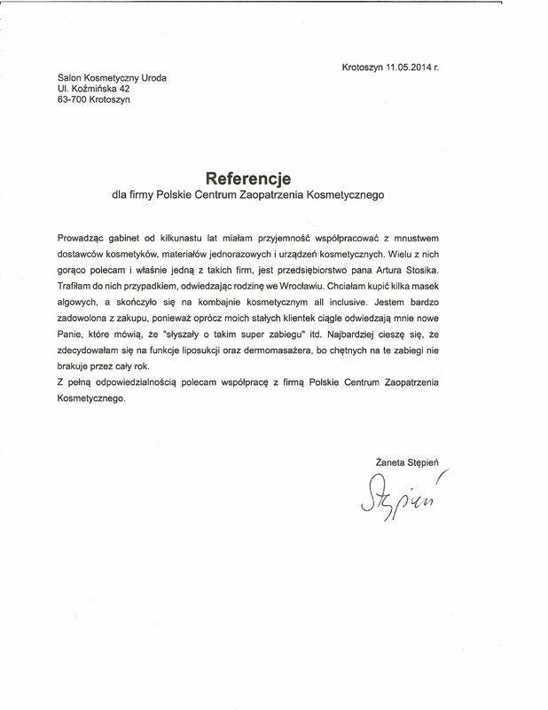 Referencje - Zaneta Stepien