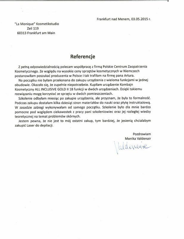 Referencje - Monika Valdenair