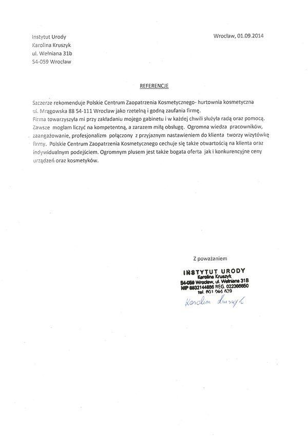 Referencje - Karolina Kruszyk