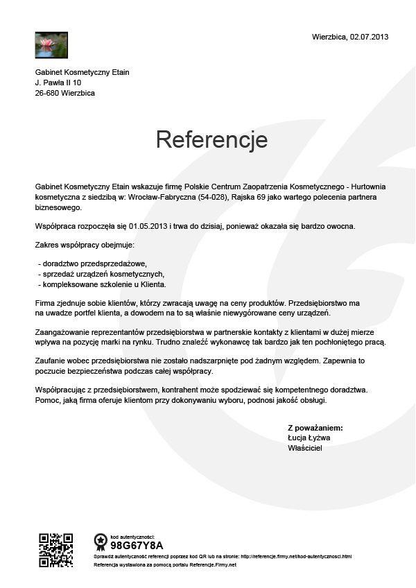 Referencje - Lucja Lyzwa