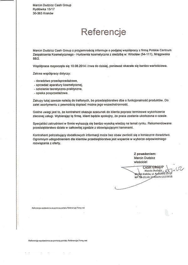 Referencje - Marcin Dudzicz