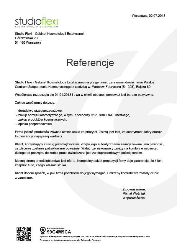 Referencje - Studio Flexi
